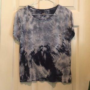 M aerie acid wash tie dye soft tee